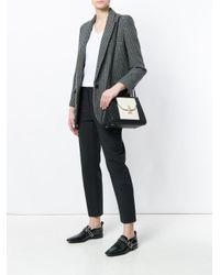 Valextra - Black Colour Block Shoulder Bag - Lyst