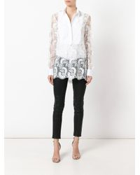Ermanno Scervino - White Sheer Paisley Layered Shirt - Lyst
