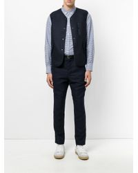 Aspesi - Blue Pocket Detail Waistcoat for Men - Lyst