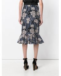Three Floor - Blue Valentina Floral Mermaid Skirt - Lyst
