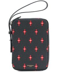 Givenchy - Black Patterned Clutch - Lyst