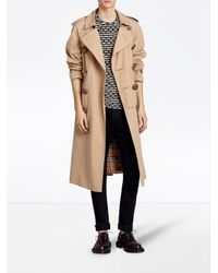 Burberry - Natural Bird Button Trench Coat - Lyst