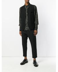 Ann Demeulemeester Black Polka-dot Panel Waistcoat for men
