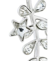DSquared² - Metallic Crystal Vine And Star Earrings - Lyst