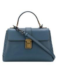Bottega Veneta - Blue Denim Calf Small Piazza Bag - Lyst