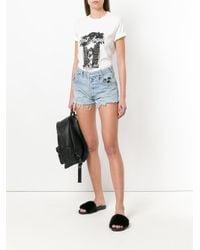Chiara Ferragni - Blue Do Not Disturb Denim Shorts - Lyst