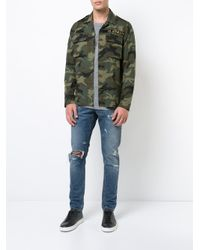 Amiri - Green Military Shirt for Men - Lyst