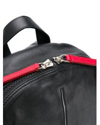 Orciani - Black Contrast Zip Backpack for Men - Lyst