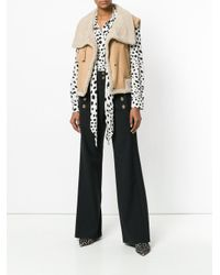 Chloé - Black Buttoned High-waisted Trousers - Lyst