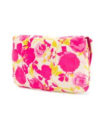 Lulu Guinness - Pink Bow Embellished Clutch Bag - Lyst