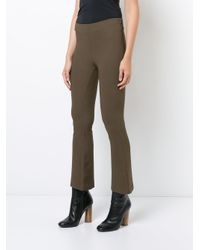 Dusan - Brown Fitted Cropped Flared Trousers - Lyst