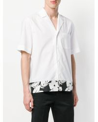 MSGM - White Short Sleeve Tropical Print Shirt for Men - Lyst