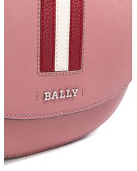 Bally - Multicolor Striped Trim Cross Body Bag - Lyst