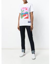 Prada | White Cactus Print T-shirt for Men | Lyst