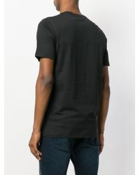 John Richmond - Black Logo Detail T-shirt for Men - Lyst