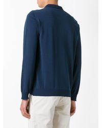 Boglioli - Blue Longsleeved Polo Shirt for Men - Lyst
