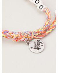 Venessa Arizaga - Multicolor 'don't Worry Be Happy' Bracelet - Lyst