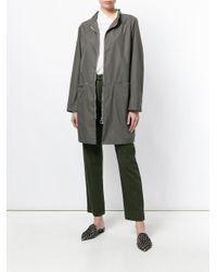 Fabiana Filippi - Gray Zipped Waterproof Coat - Lyst