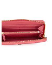 Tory Burch - Pink Zip-around Wallet - Lyst