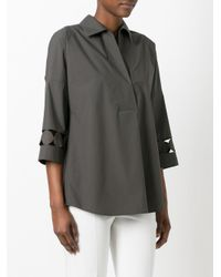 Akris Punto - Green Laser Cut Detail Shirt - Lyst