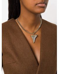 Givenchy - Multicolor Sabre Tooth Chain Necklace - Lyst