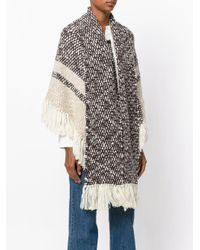 See By Chloé - Brown Scarf Cardigan Coat - Lyst