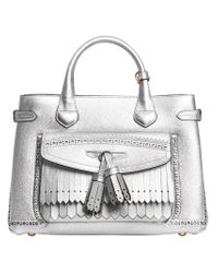 Burberry - Metallic Medium Banner Tote - Lyst