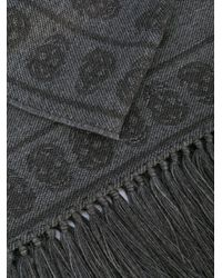 Alexander McQueen - Gray Skull Print Scarf for Men - Lyst