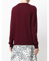 N°21 - Brown Textured Flower Knitted Sweater - Lyst