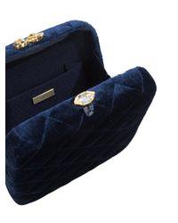 Serpui - Blue Stone Embellished Clasp Clutch - Lyst