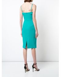 Black Halo - Green Fitted Dress - Lyst