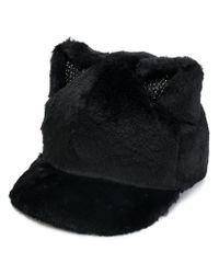 CA4LA - Black Cat Ears Cap - Lyst