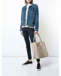 AllSaints - Gray Oversized Tote Bag - Lyst