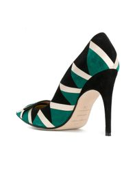 Sergio Rossi - Green Women's Multicolor Leather Pumps - Lyst
