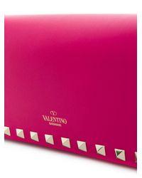 Valentino - Pink Garavani Rockstud Clutch - Lyst