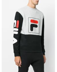Fila - Gray Urban-line Jamie Crew Neck Sweatshirt for Men - Lyst