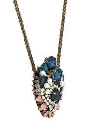 Shourouk - Metallic Oversized Pendant Short Necklace - Lyst