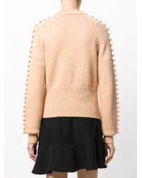Chloé - Natural Knitted Bobble Sweater - Lyst