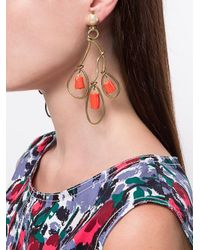 Marni - Metallic Abstract Chandelier Earrings - Lyst