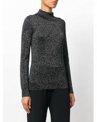 Joseph - Black Lurex High Neck Sweater - Lyst
