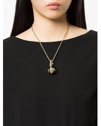 Lanvin - Metallic Swan Charm Necklace - Lyst