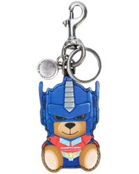 Moschino - Blue Transformer Bear Key Ring - Lyst