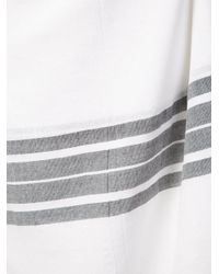 Osklen - White Striped Beach Wrap - Lyst