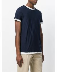 Majestic Filatures - Blue Layered Look T-shirt for Men - Lyst