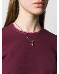 Bottega Veneta - Metallic Antique Intrecciato Silver Necklace - Lyst