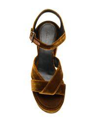 Jil Sander | Brown Platform Sandals | Lyst