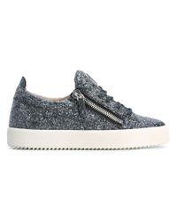 Giuseppe Zanotti - Gray Cheryl Glitter Sneaker - Lyst