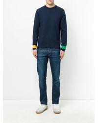 PS by Paul Smith - Blue Asymmetric Sweatshirt for Men - Lyst