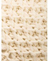 Inverni - White Fox Fur Pompom Beanie - Lyst