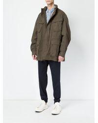 Juun.J - Green High Neck Loose-fit Coat for Men - Lyst